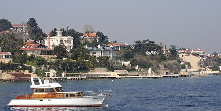 Picture of Büyükada, one of the Princes' Islands in Istanbul.