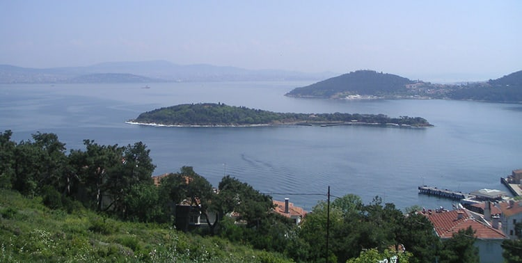 Picture of the Princes' Islands in Istanbul, Turkey.