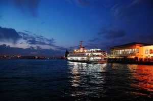 Picture of Bosphorus tour by night in Istanbul, Turkey.