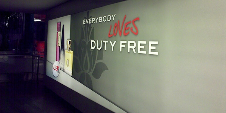 Picture of Duty Free zone at the Istanbul International Airport, Turkey.