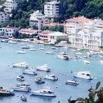 Image of the bay of trendy Bebek in Istanbul, Turkey
