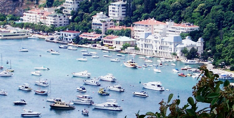 Image of the bay of trendy Bebek in Istanbul, Turkey