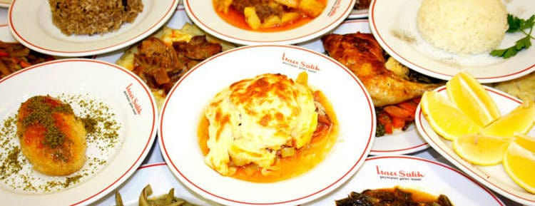 Picture of dishes you can find in an esnaf lokantasi in Istanbul.