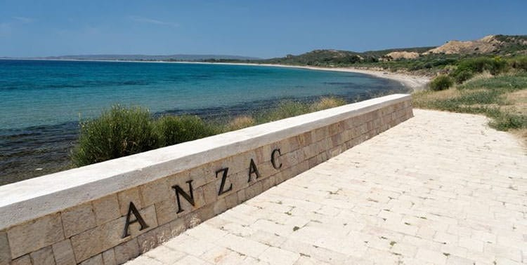 Picture of Anzac Cove in Gallipoli, Turkey.