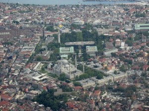 picture of Süleymaniye Mosque and its surrounding buildings in Istanbul, Turkey..