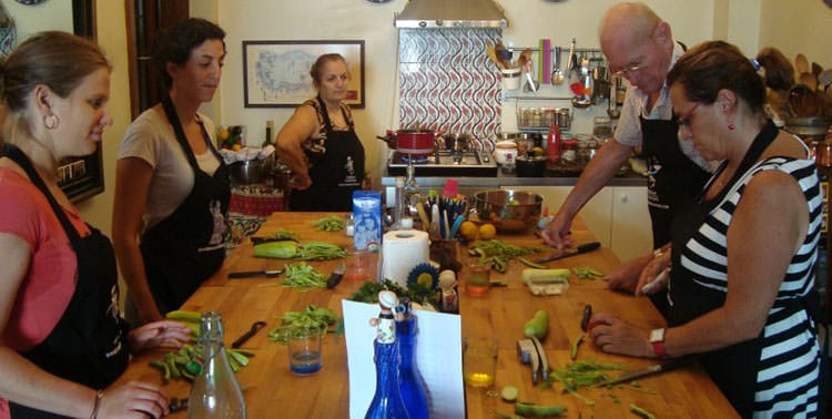 Picture of a Turkish Flavours cooking class I took in Istanbul, Turkey.