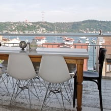 Picture from terrace of Mangerie Bebek in Istanbul, Turkey.