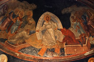Picture of the interior of the Chora Church or Kariye Museum in Istanbul, Turkey.