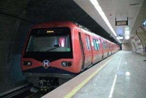 M2 - Şişhane-Hacıosman Metro Line in Istanbul, Turkey.