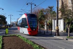 T1 - Kabataş-Bağcılar Tramway Line in Istanbul, Turkey.