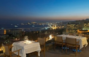 View from Vogue Restaurant in Istanbul, Turkey.