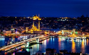 Picture of the Galata Bridge over the Golden Horn.