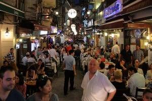 Picture of Nevizade in the Beyoğlu area.