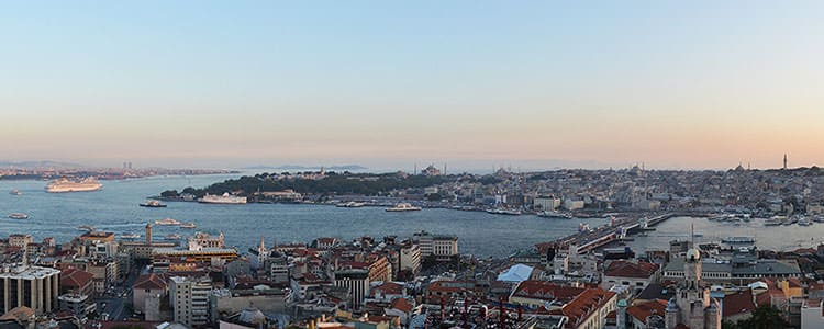 Picture of Sultanahmet seen from Beyoğlu, Istanbul.