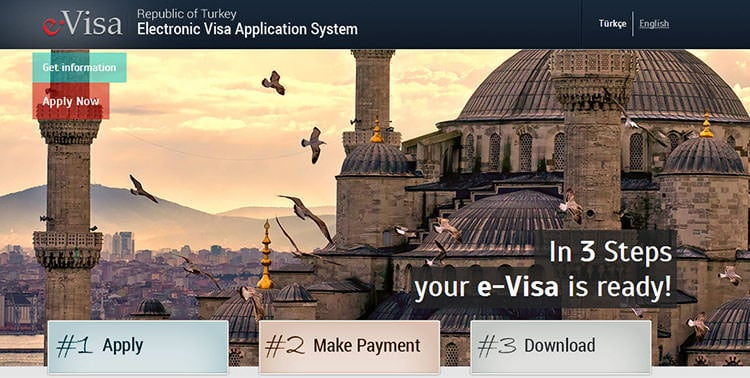 How to get a Turkish Visa or e-Visa online..