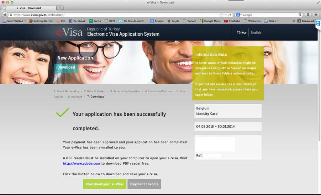 How to get a Turkish Visa or e-Visa online - Step 8