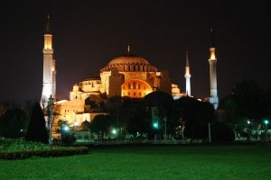 Picture of Hagia Sophia in Istanbul, Turkey.