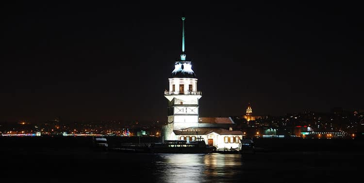 Picture of the maiden tower in the Bosphorus in Istanbul, Turkey