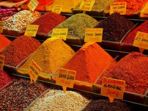 Picture of the Spice Bazaar in Istanbul, Turkey.