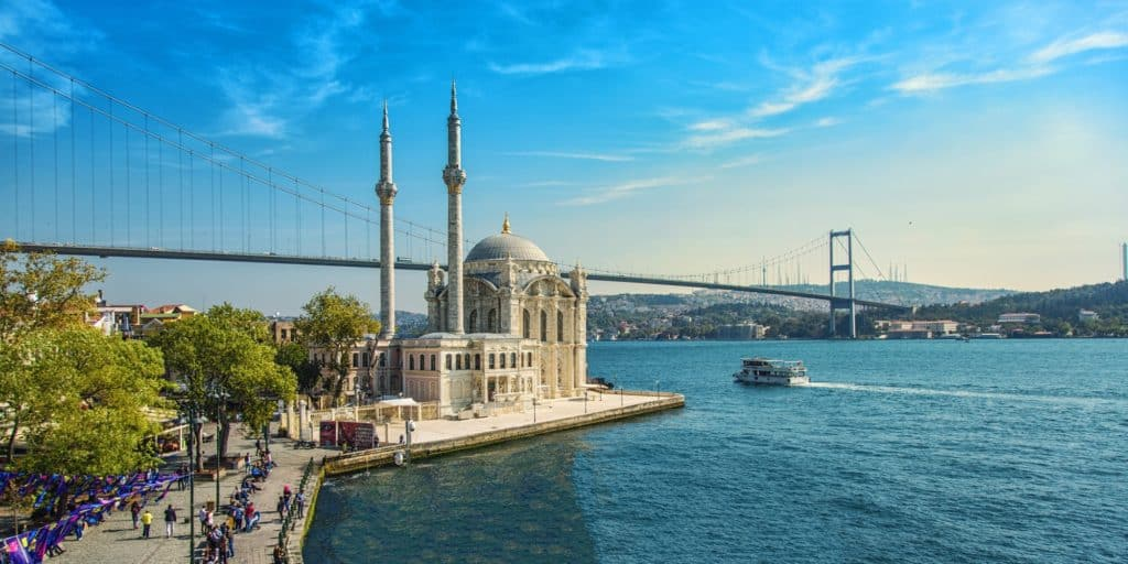 Ortaköy Mosque in Istanbul, Turkey.