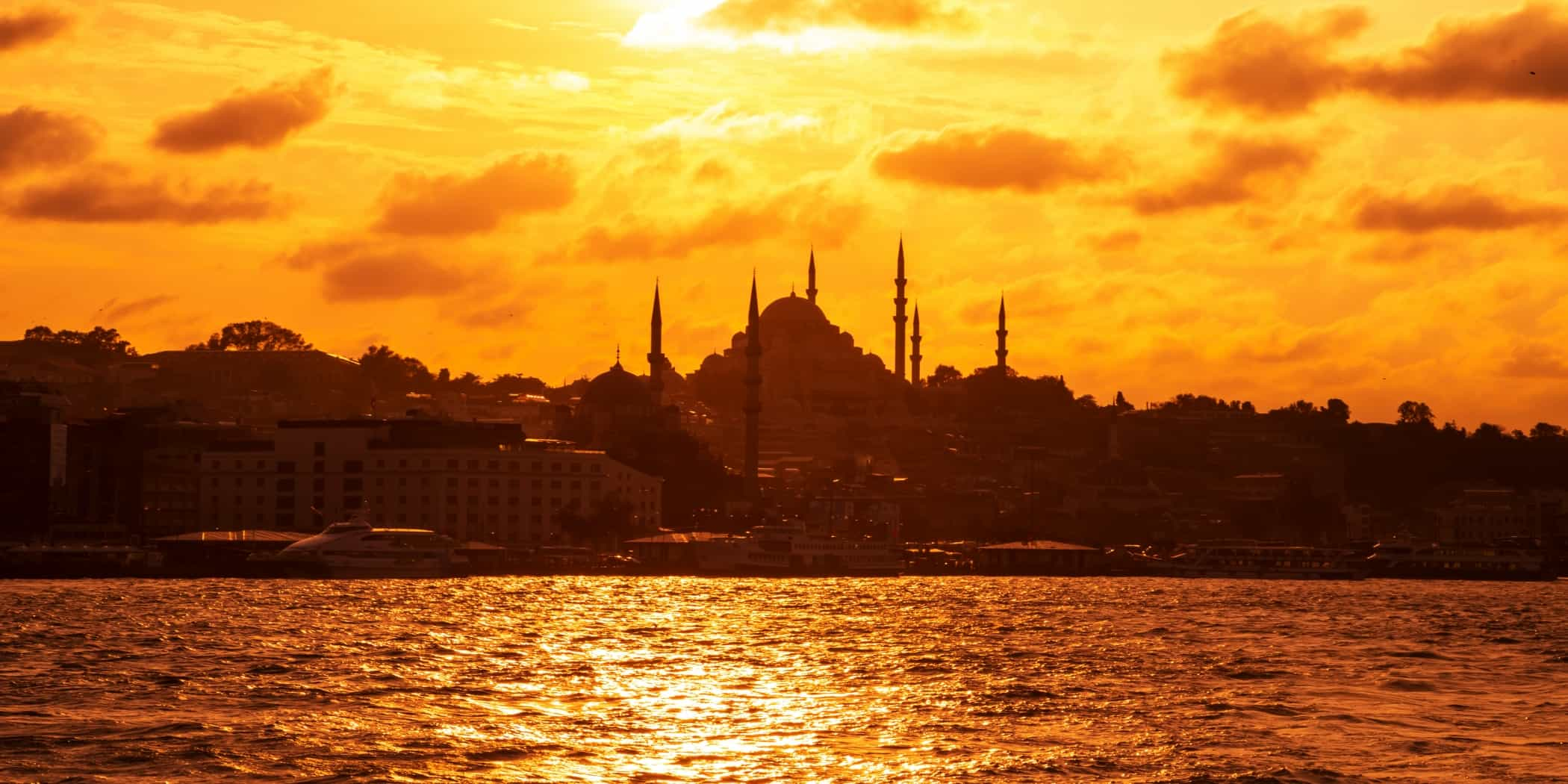 Istanbul sunset from the Bosphorus