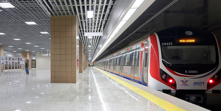 Image of Marmaray tunnel station in Yenikapi, Istanbul.