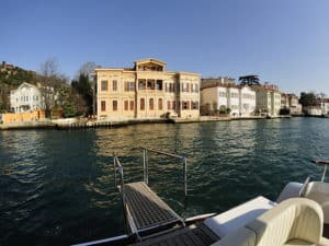 Taking a dip during private Bosphorus cruise.