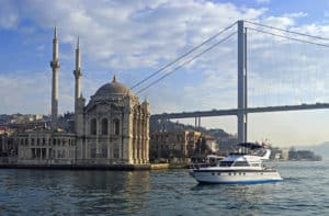 Private yacht Zoe in front of Ortaköy.