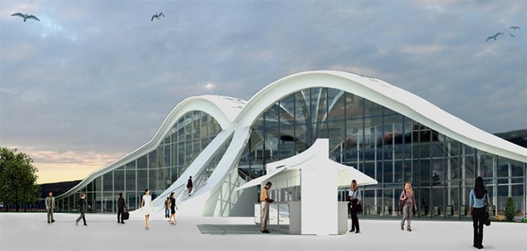 Design of New Seagull-shaped Kabataş Ferry Dock in Istanbul