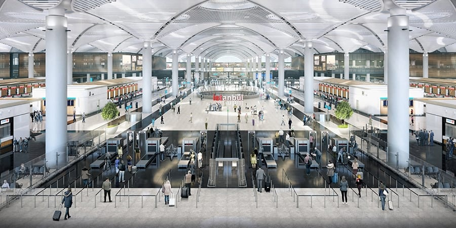 Inside the New Istanbul Airport.