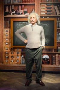 Einstein at Madame Tussauds Istanbul.