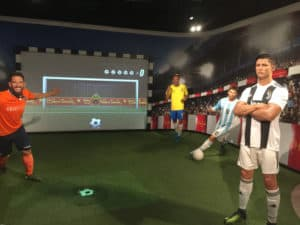 Football players at Madame Tussauds Istanbul.