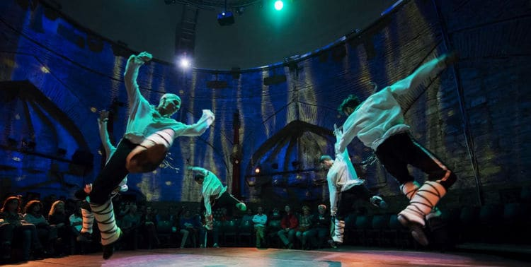 Dancers of Rhythm of Dance at Hodjapasha Cultural Center in Istanbul