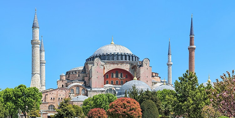 Hagia Sophia in Istanbul.