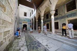 Courtyard of eunuchs in Harem of Topkapi Palace