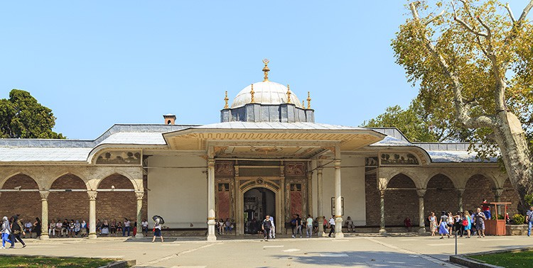 Gate of Felicity of Topkapi Palace in Istanbul