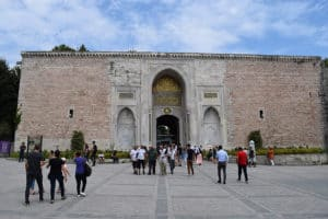 Imperial Gate of Topkapi Palace in Istanbul