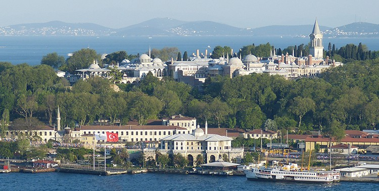 Aerial view of Topkapi Palace in Istanbul