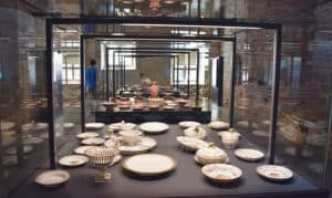 Porcelain in kitchens of Topkapi Palace in Istanbul