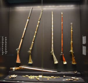 Weapons Room of Topkapi Palace in Istanbul