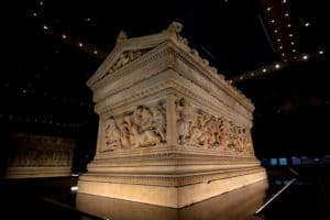 Alexander sarcophagus at Archaeology Museum in Istanbul