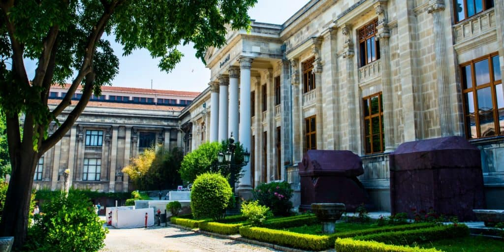 Exterior of the Archaeology Museum in Istanbul