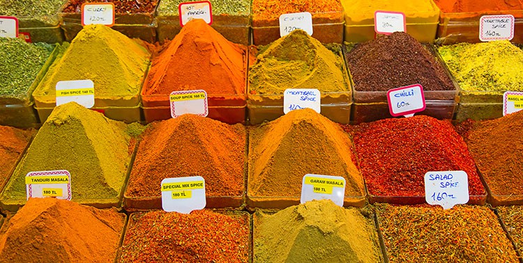 Spice market or Egyptian bazaar in Istanbul