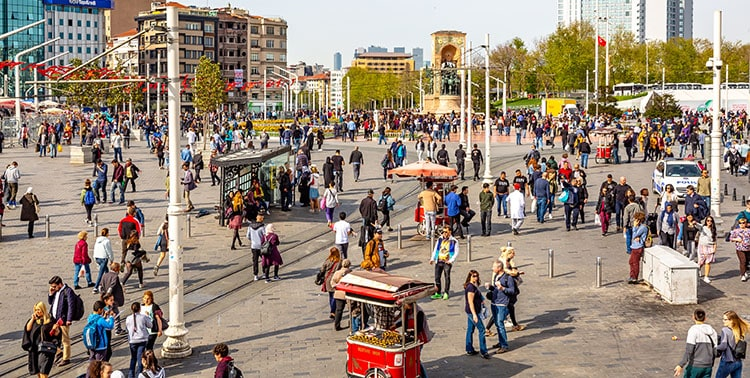 Picture of new Taksim Square in Istanbul